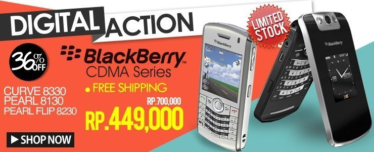 LIMITED STOCK!! Hanya Rp.449.000 Blackberry CDMA Series!!