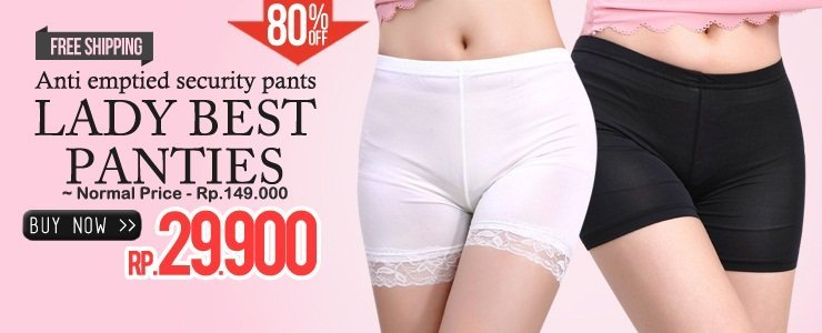 AWESOME 80%OFF!  LADIES BEST PANTIES ONLY Rp 29.900!! COME BUY!!
