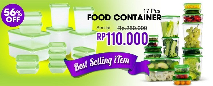 Food Container By IKEA Cuma Rp.110.000! Paling Murah