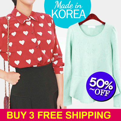 ★NEW ARRIVALS 3 items FREE Shipping★Korean Dress T-Shirt Tops Jeans Leggings Skirts [Choko Shop]/