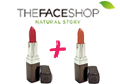 Lipstick Faceshop 1 + 1 !!