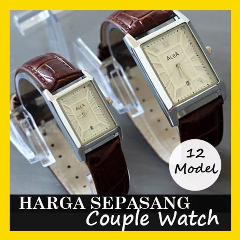 [HARGA UNTUK SEPASANG]COUPLE WATCH/JAM TANGAN PASANGAN**FASHION LEATHER**BLACK/BROWN