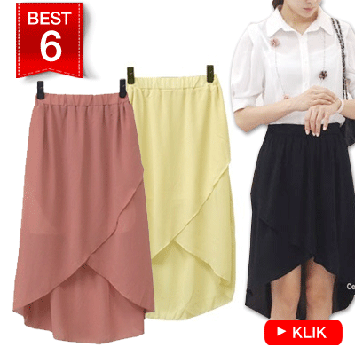 KOREAN STYLE ★ CHIFFON LONG SKIRT