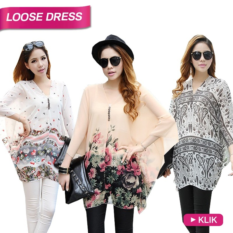 WOMEN LOOSE BLOUSE / DRESS / BIG SIZE!!! HIGH QUALITY OCTOBER COLLECTION / BLOUSE MOTIF