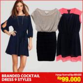 [FreeOngkir*]Branded Cocktail Dress_9 Styles_Premium Quality_Dress wanita_Party Dress_Casual Dress