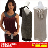 [CHRISTMAS SALE] Luxury Ribbon Dress_For Christmas Part_4 Colors_Premium Dress_Ekspor Quality_Part Dress / Dress wanita / pakaian wanita