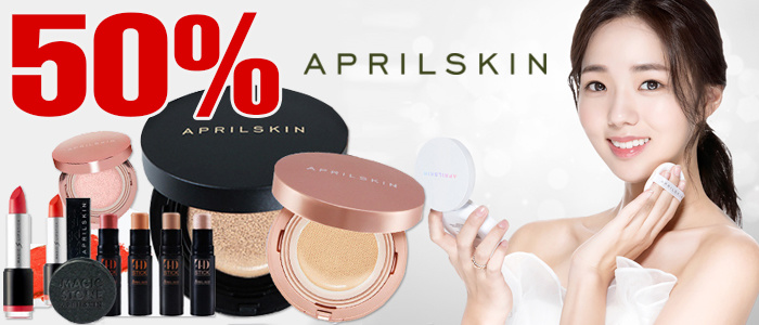 APRILSKIN UP TO 50%OFF