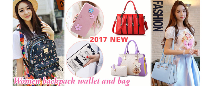 2017 Women backpack wallet and bag