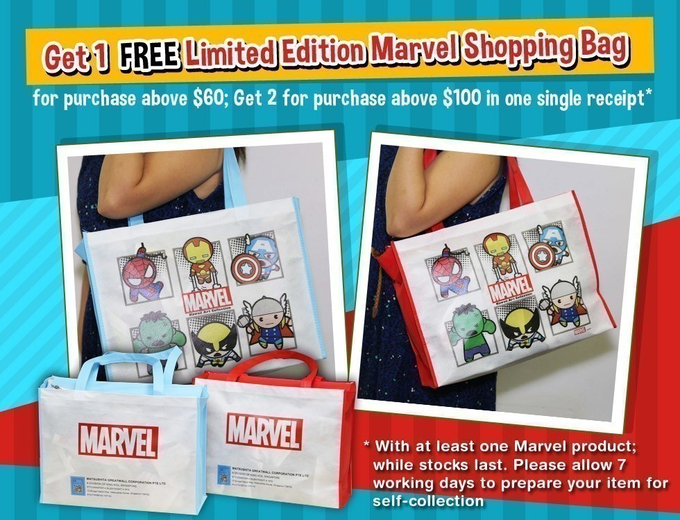 FREE Limited Edition Marvel Shopping Bag