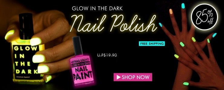 Nail Polish glows in the dark FREE Shipping