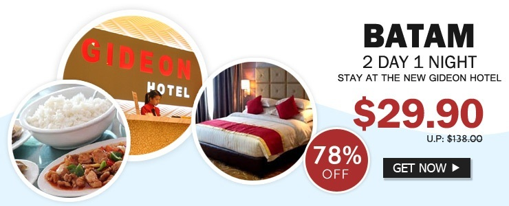 Batam 2D1N / 3D2N Stay at The New Gideon Hotel