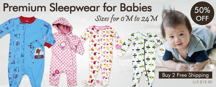 Premium Sleepwear For 0 to 24 Months Babies
