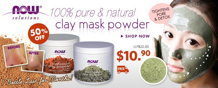 100% Natural Clay Mask Facial Detox Powder