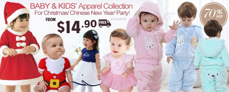 Baby/Kids' Party Apparel Collection from $14.90! Free Shipping!