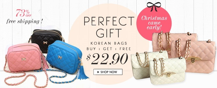Xmas Special! Buy 1 Get 1 Free Korean Bags! Free Ship!