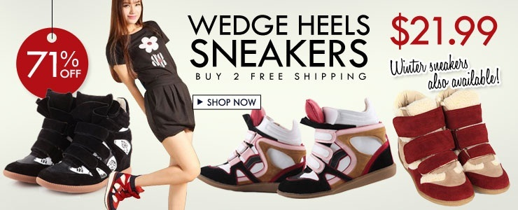 Wedge Heel Sneakers! Buy 2 Free Ship!