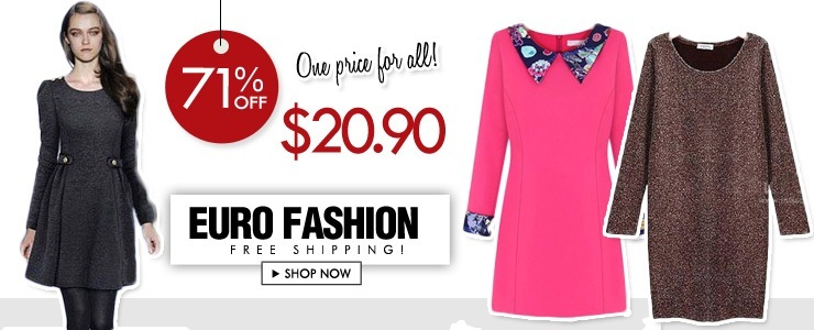 Euro Fashion! Free Shipping!