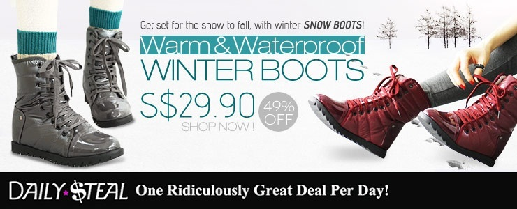 [Daily Steal] Hidden Heel 2CM! Women Waterproof Winter Warm Boots