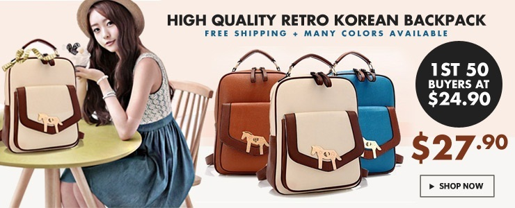 High Quality Korean Retro Backpack / computer bag / shoulder bag