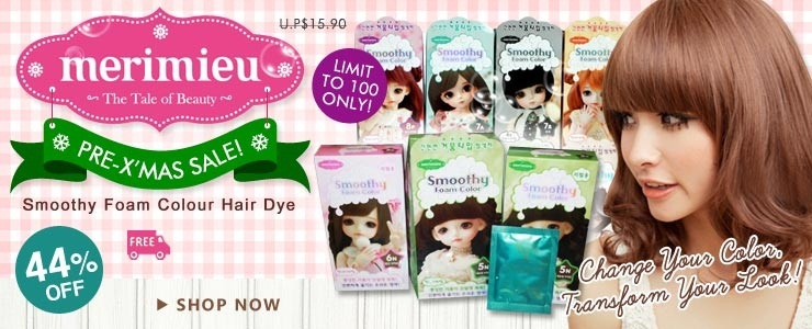 MERIMIEU Smoothy Foam Colour hair dye