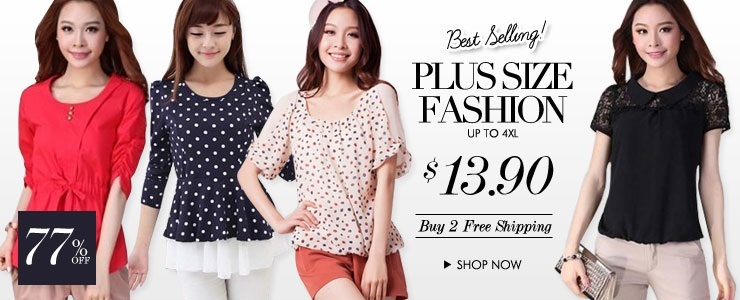 Bestseller Plus Size Fashion @ Buy 2 Free Shipping!