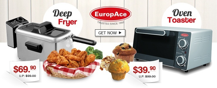 Europace Oven Toaster and Deep Fryer with Digital Timer