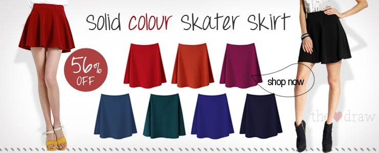 Solid colour Skater skirt