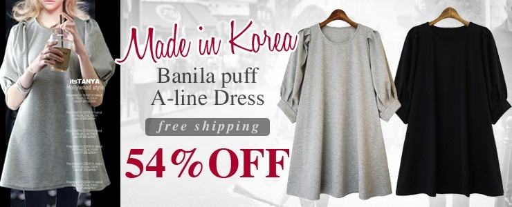 [it's tanya]Banila puff A-line dress