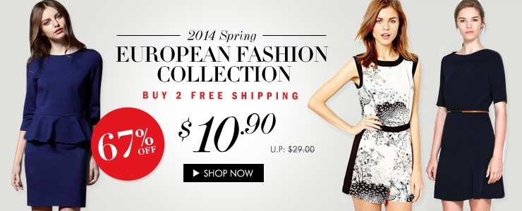 2014 Spring Europe Fashion Buy 2 Free Ship