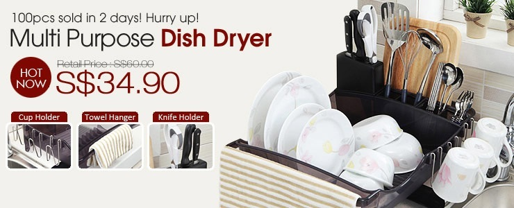 Dish Dryer with Drainer