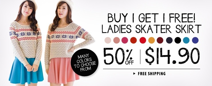 Buy 1 Get 1 Free Skater Skirt + Free Shipping!