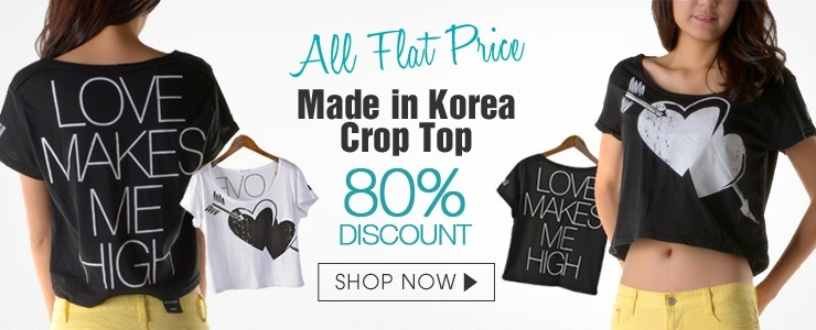 [All Flat price]! Crop t shirts