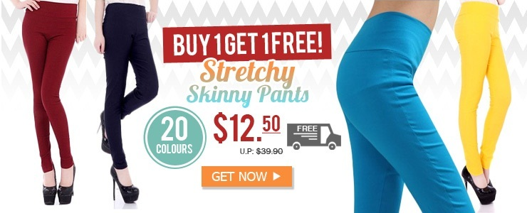 [Skinny Pants] Buy 1 Get 1 Free!+ Free Shipping!