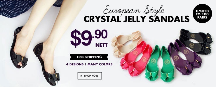 Best-Selling Europe Style Crystal Jelly Sandals