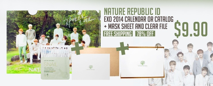 Get The Look - [Nature republic ID]EXO 2014 Calendar or Catalog and Mask Sheet