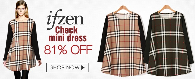 [Ifzen] Check Mini dress