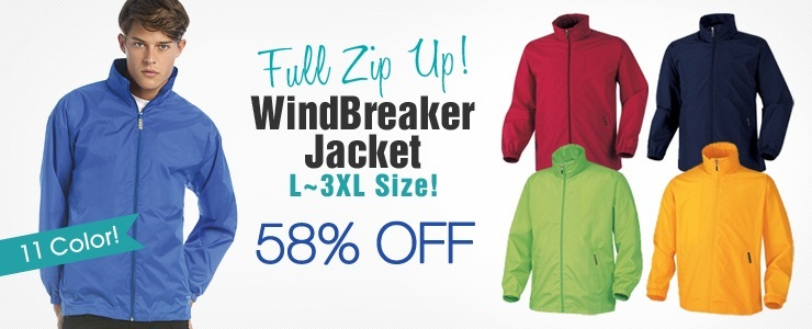 Full Zip up WindBreaker Jacket
