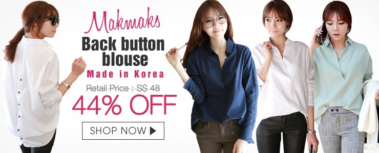 [Makmaks]Back button blouse