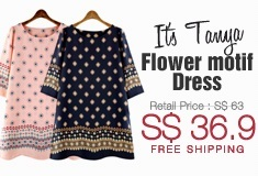 Flower motif tunic dress