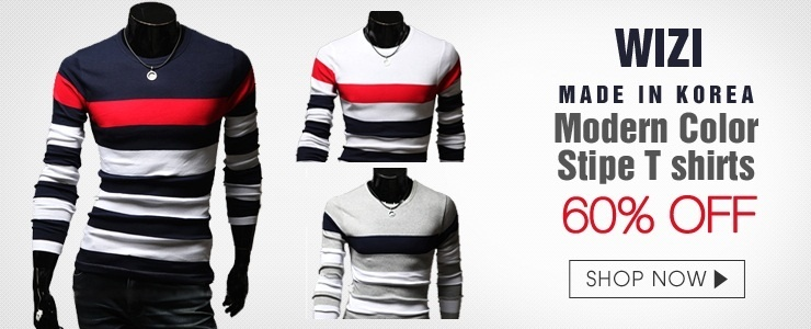 [WIZI] Mens stylish Long Sleeve T-Shirt
