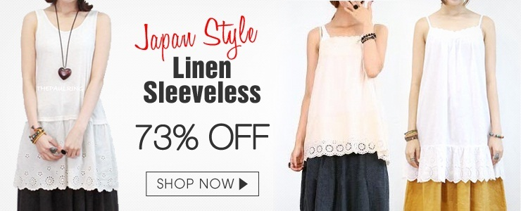 [Japan style linen sleeveless]