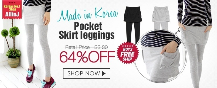 [Buy2 Free ship]AllinJ Porket Skirt leggings