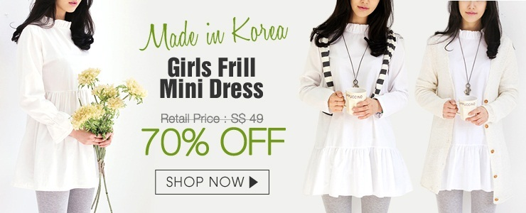 Korean Frill mini dress