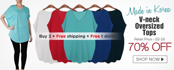 [Made in Korea] buy 3 for free shipping and free tops