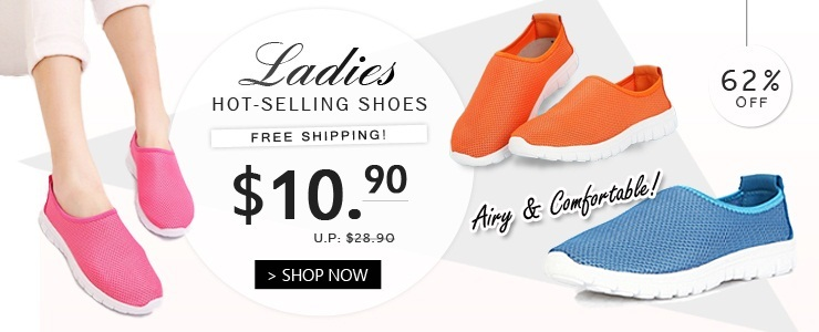 Airy Comfortable Shoes @ $10.90 only! Free Shipping!