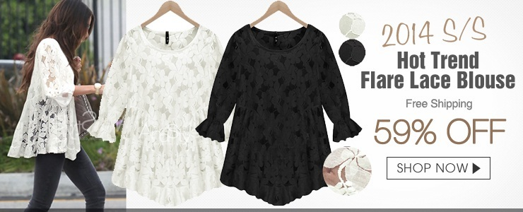 Flare Lace Blouse_212741