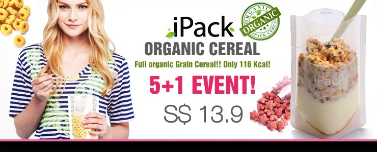 Get The Look - iPack Organic cereal 5+1 packs $13.9