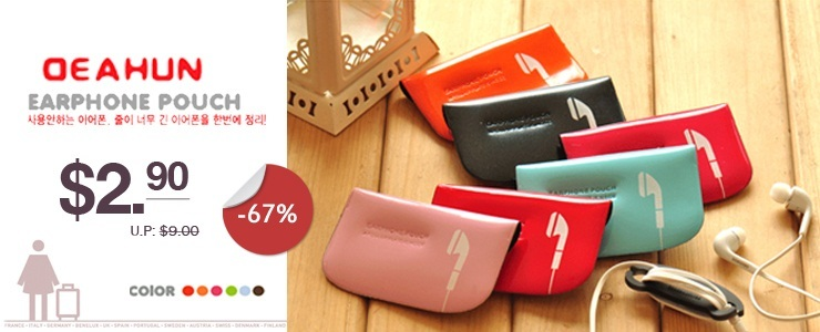 DEAHUN Earphone pouch + Cable winder | Multifunction card holder