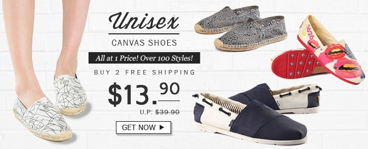 [Buy 2 Free Shipping] Unisex Canvas Shoes @ Nett Price