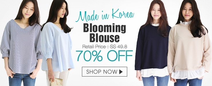 [Blooming]Korean frill blouse